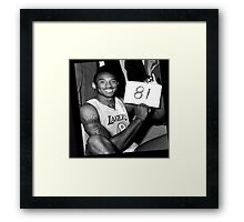 Kobe Bryant - 81 points Framed Print