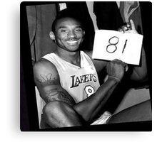 Kobe Bryant - 81 points Canvas Print