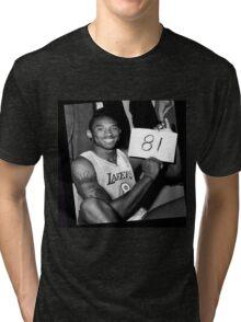 Kobe Bryant - 81 points Tri-blend T-Shirt
