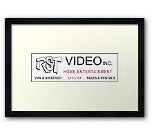 Clerks RST Video Framed Print