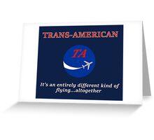Trans-American logo Greeting Card