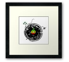 Reggae Music Peace - Vinyl Records Weed Cannabis - Cool Retro Music DJ inspired design Framed Print