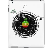 Reggae Music Peace - Vinyl Records Weed Cannabis - Cool Retro Music DJ inspired design iPad Case/Skin