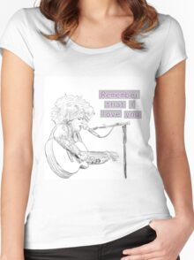 Kimya Dawson- Remember that I love you Women's Fitted Scoop T-Shirt