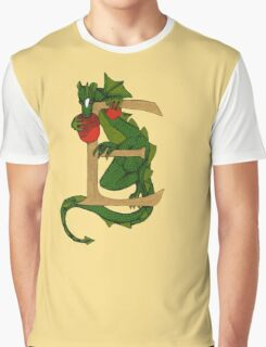 """Oscar and the Roses """"E - tail"""" (Illustrated Alphabet) Graphic T-Shirt"""