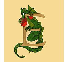 "Oscar and the Roses ""E - tail"" (Illustrated Alphabet) Photographic Print"