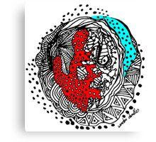 Abstract Chakra Zen Geometric Doodle 3d Color Canvas Print
