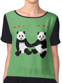 Panda Love Chiffon Top