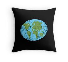 World map distressed Asia, Africa, Europe Throw Pillow