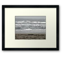 Guadalupe Beach Wave Framed Print