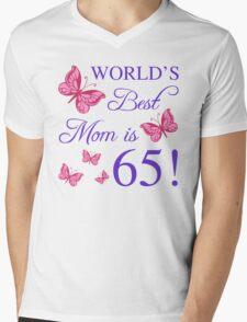 65th Birthday For Mom Mens V-Neck T-Shirt