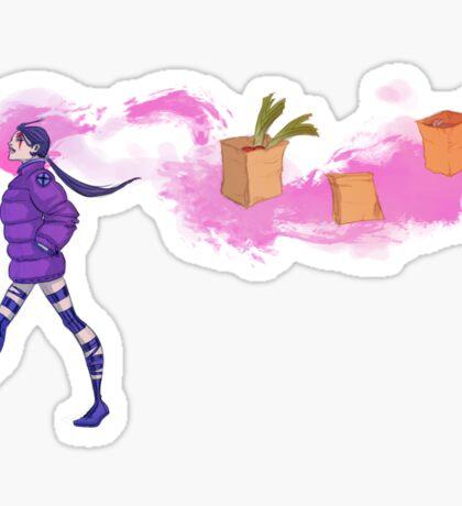 Psylocke After Danger Room Sticker