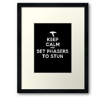 Keep calm and set phasers to stun - Alt version Framed Print