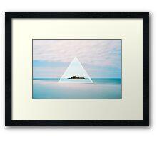 Blue Island Framed Print