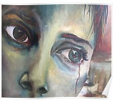 'Release' Powerful Emotional Woman Acrylic Painting Poster
