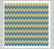 simple yellow and blue knit pattern One Piece - Short Sleeve