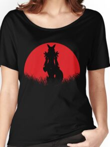Renamon Digital Monster RED MOON Women's Relaxed Fit T-Shirt