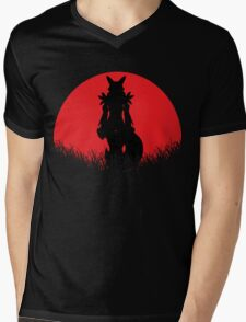 Renamon Digital Monster RED MOON Mens V-Neck T-Shirt