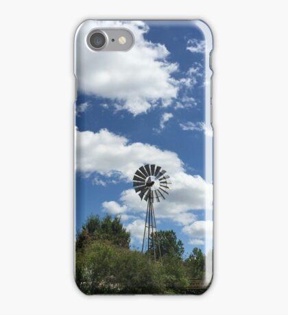 Windmill blue sky iPhone Case/Skin
