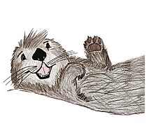 Otterly In Love Photographic Print
