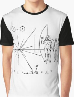 Rock the Universe - modified pioneer plaque Graphic T-Shirt