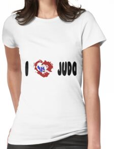 I LOVE JUDO Print Womens Fitted T-Shirt