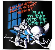 Pinky and Brain Take over The world Poster