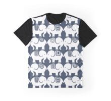 Elephants (blue) Graphic T-Shirt