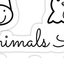 Animals Are Friends Not Food Sticker