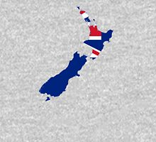 Flag Map of New Zealand  Unisex T-Shirt