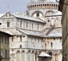 Pisa's Duomo through the streets Sticker
