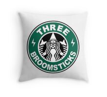 THREE BROOMSTICKS Throw Pillow