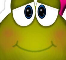 Frog Princess Cartoon Sticker