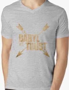 Daryl Dixon The Walking Dead - In Daryl We Trust Mens V-Neck T-Shirt