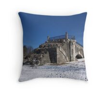 Snow Wall Throw Pillow