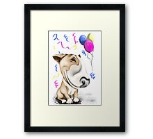 Party Bull Terrier Tan Framed Print