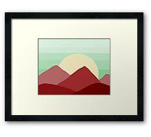 Red Land, Green Skies Framed Print
