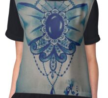 Victorian style bow Chiffon Top