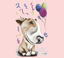 Party Bull Terrier Tan One Piece - Long Sleeve