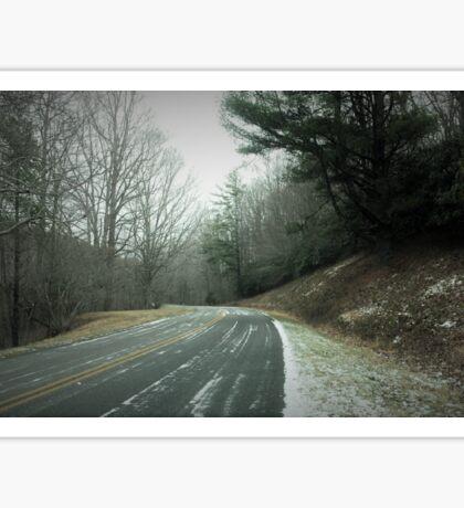 Blue Ridge Parkway in Light Snow Sticker