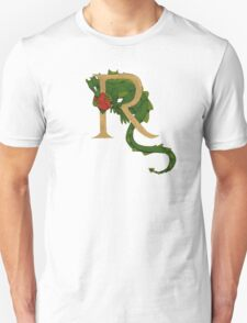 """Oscar and the Roses """"R - Tail"""" (Illustrated Alphabet ) Unisex T-Shirt"""