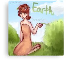 Earth Girl Canvas Print