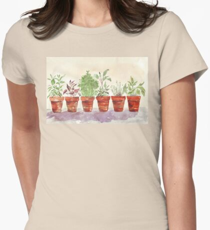 Herbs - Inside or outside? Womens Fitted T-Shirt