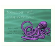 Sassy Octopus Art Print
