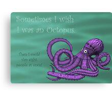 Sassy Octopus Canvas Print