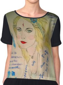 The Goddess of Poetry Chiffon Top