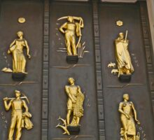 Door with the golden figures, New York Sticker