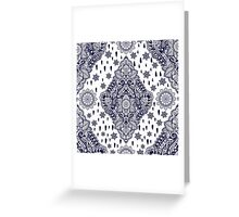 Bohemian floral paisley ornament. Greeting Card