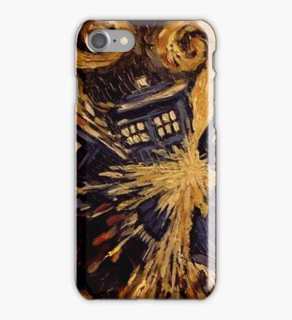 Doctor Who- Van Gogh Exploding Tardis iPhone Case/Skin