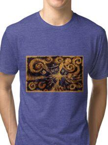 Doctor Who- Van Gogh Exploding Tardis Tri-blend T-Shirt